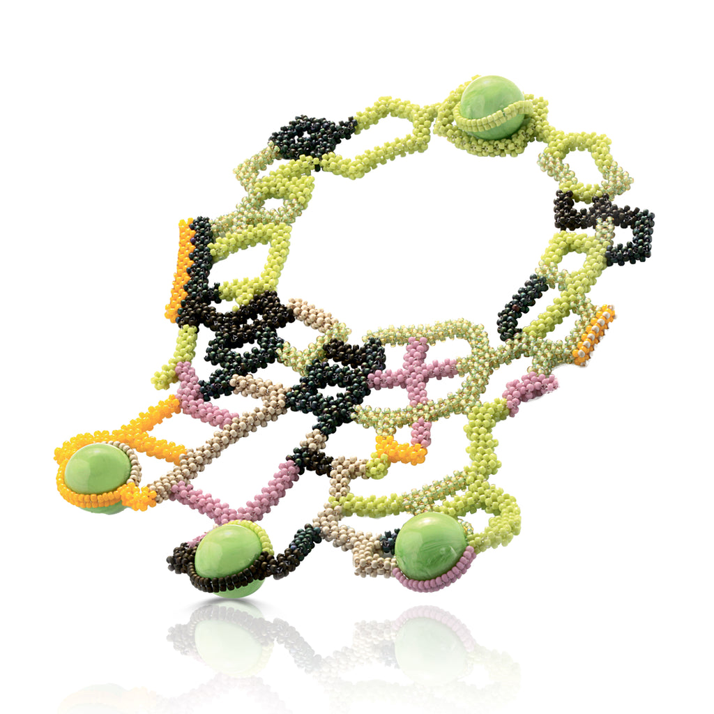 Mara Colecchia -  Japanese and Vintage Beads Montezuma Designer Collar  Necklace on IndieFaves