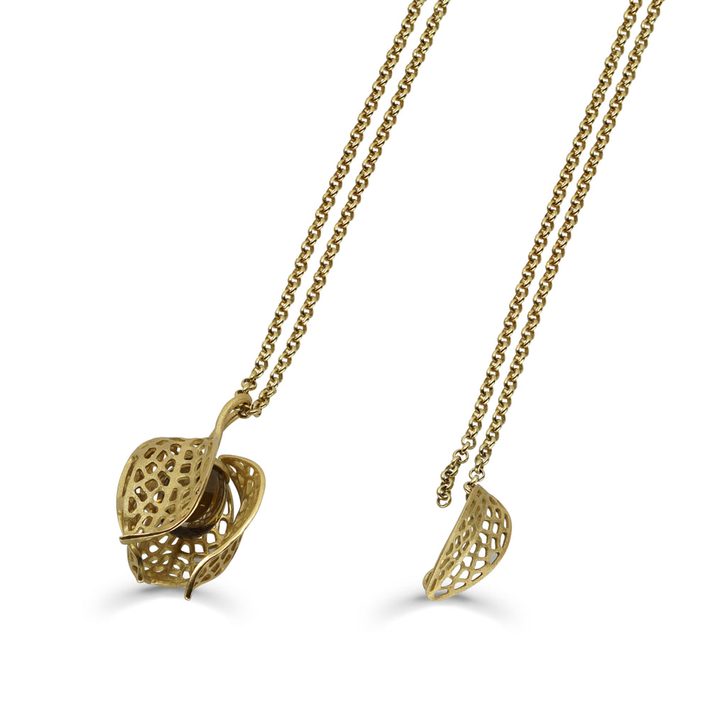 Mara Soriano - Hōzuki Designer Pendant with Cognac Citrine on IndieFaves