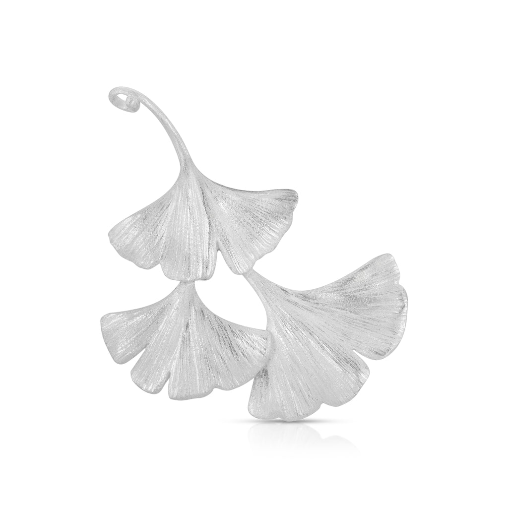 Rent Designer Jewelry - Mara Soriano - Gingko 3 leves Brooch