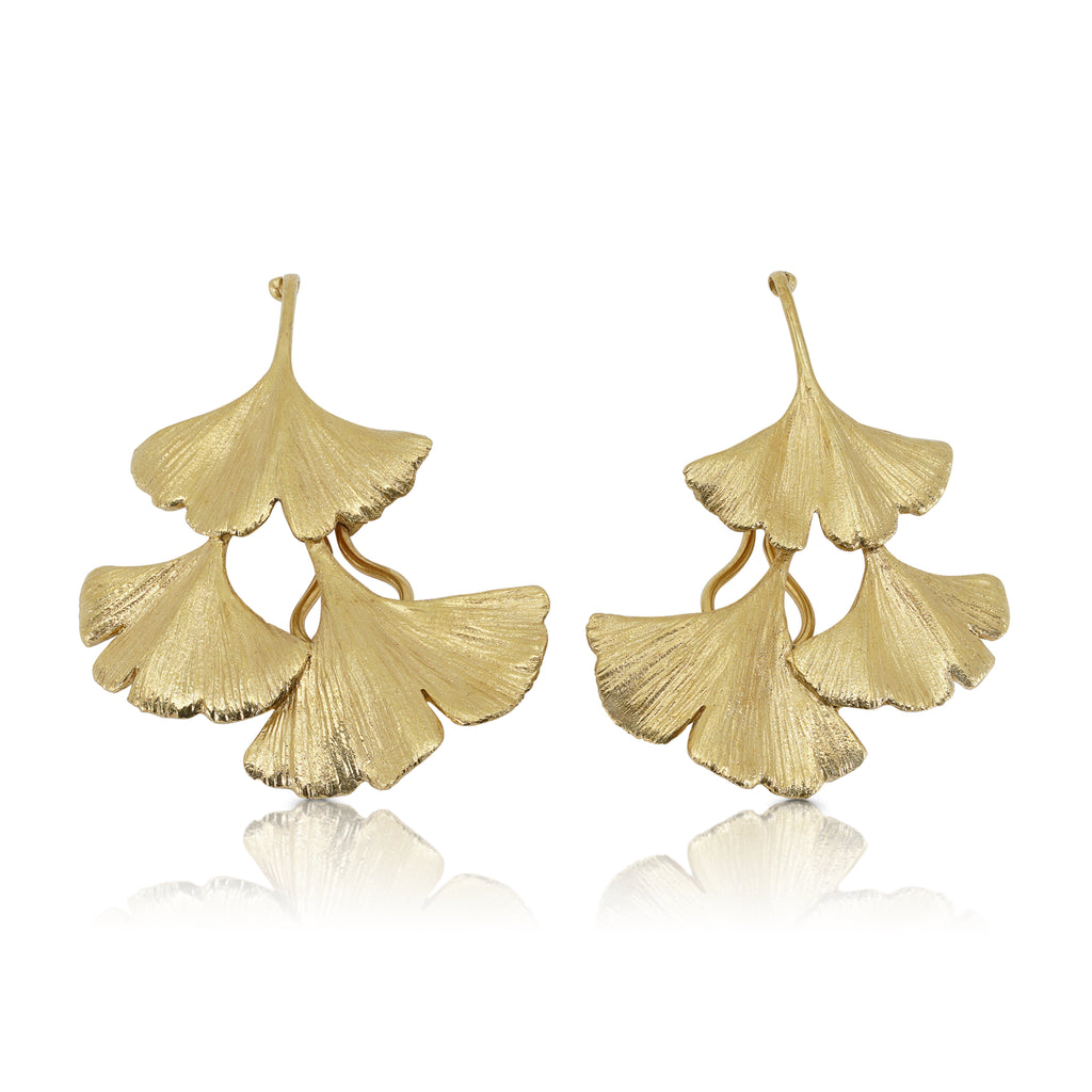 Gingko Designer Earrings on IndieFaves