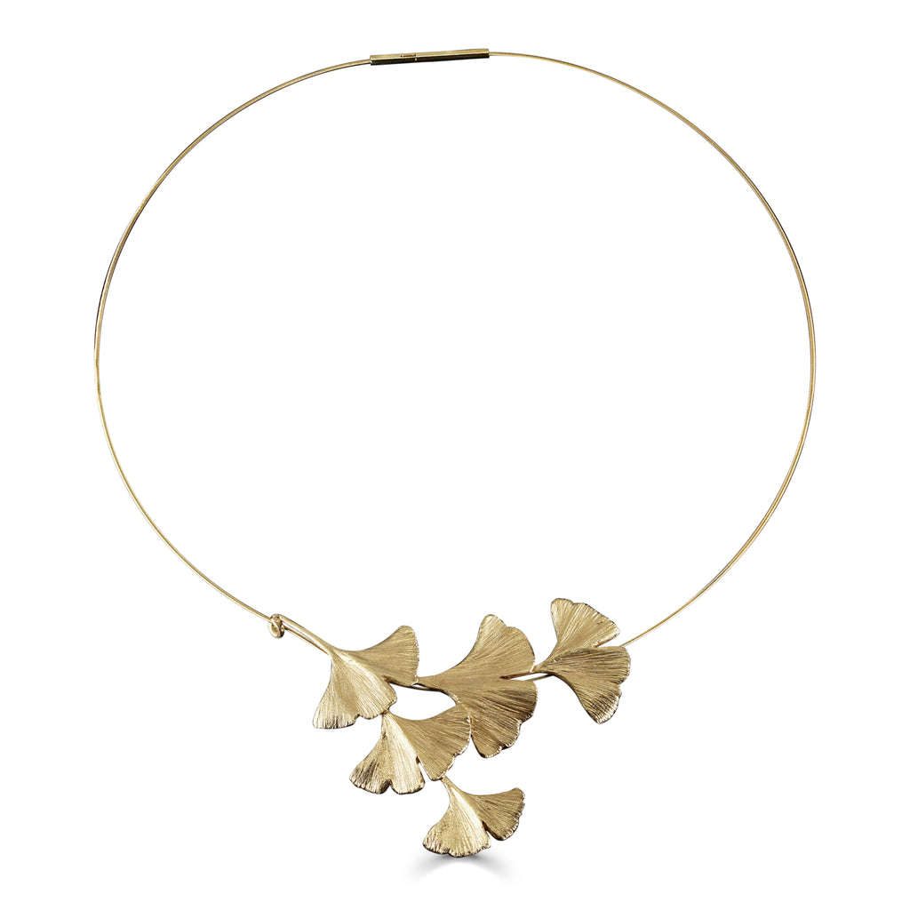 Mara Soriano - Gingko Designer Necklace Gold vermeil on IndieFaves