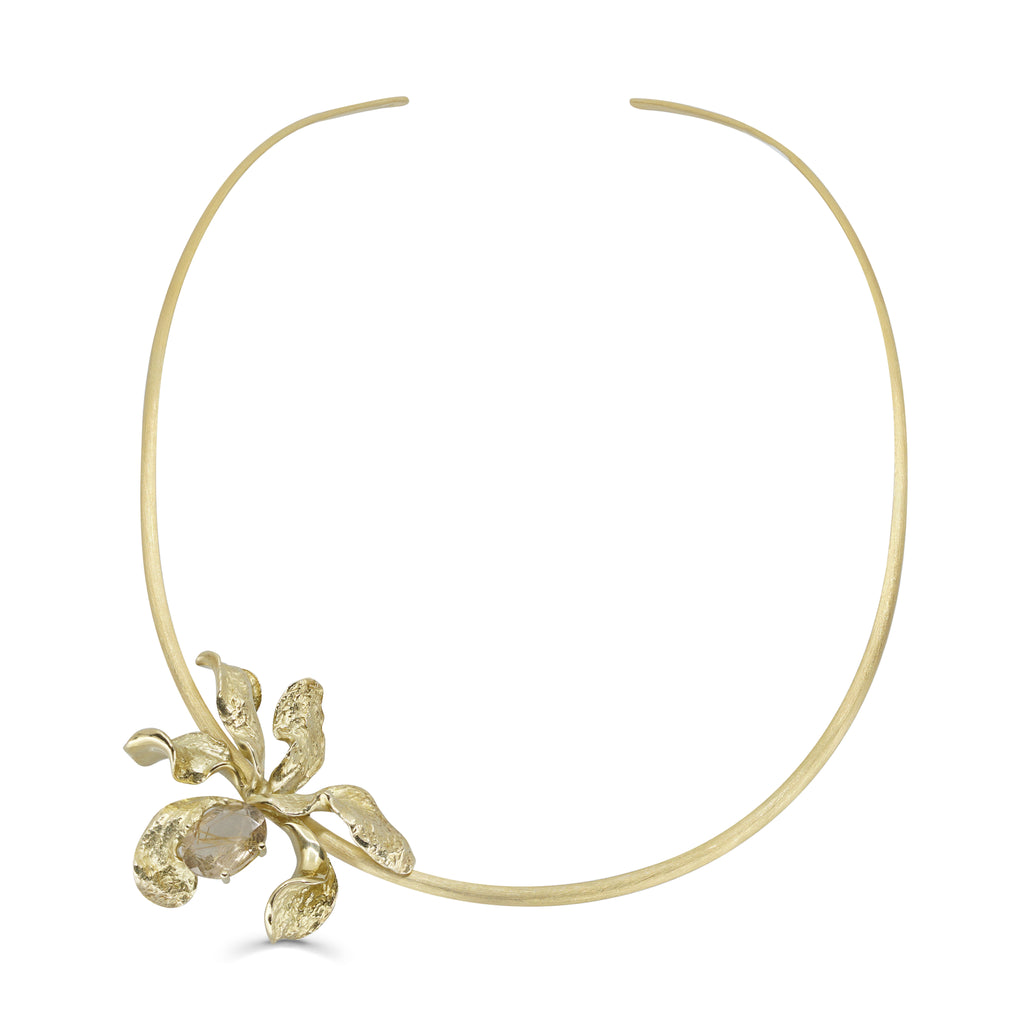 Mara Soriano - Natsu Designer Choker with Rutilated Quartz on IndieFaves