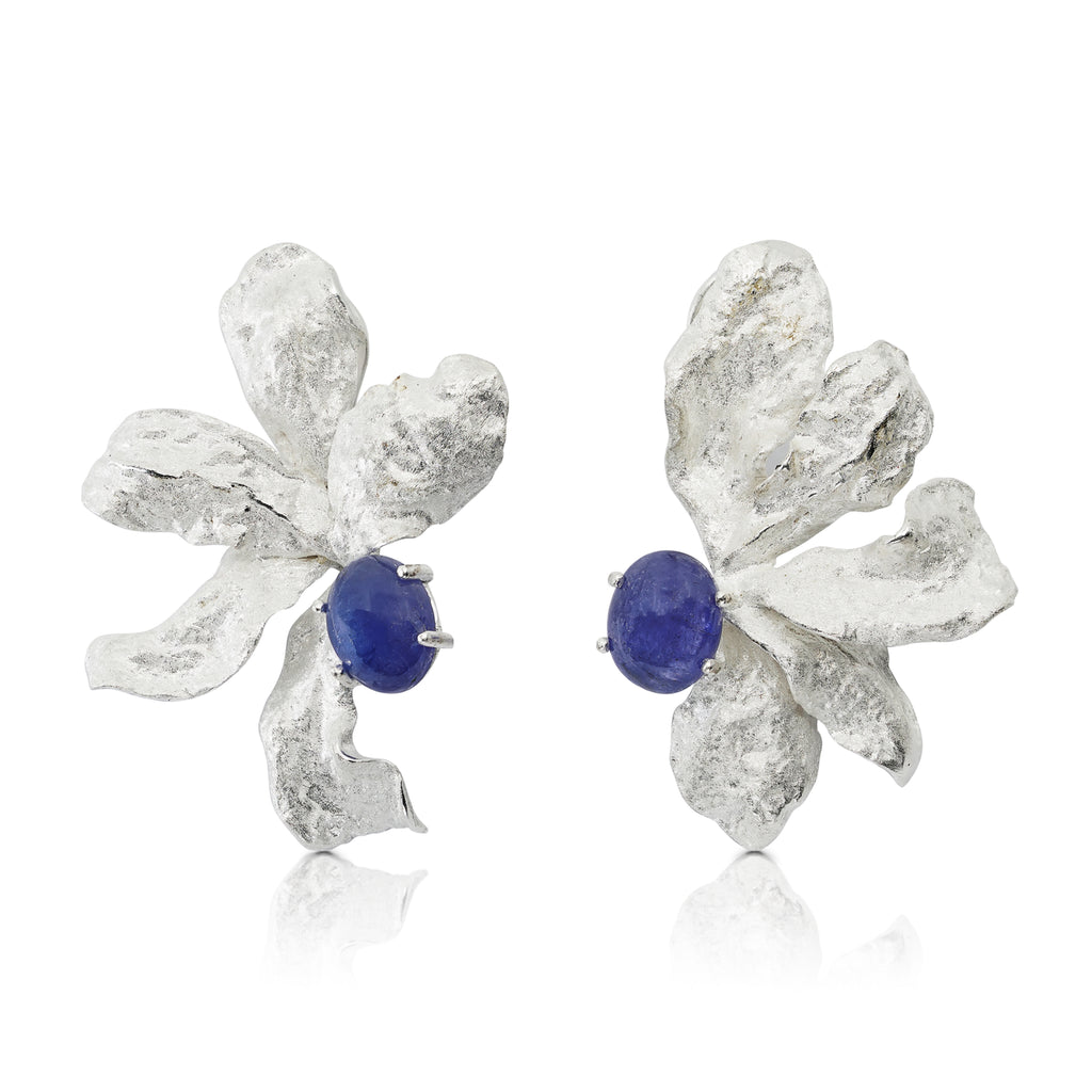 Mara Soriano - Natsu Designer Earrings with Tanzanite on IndieFaves