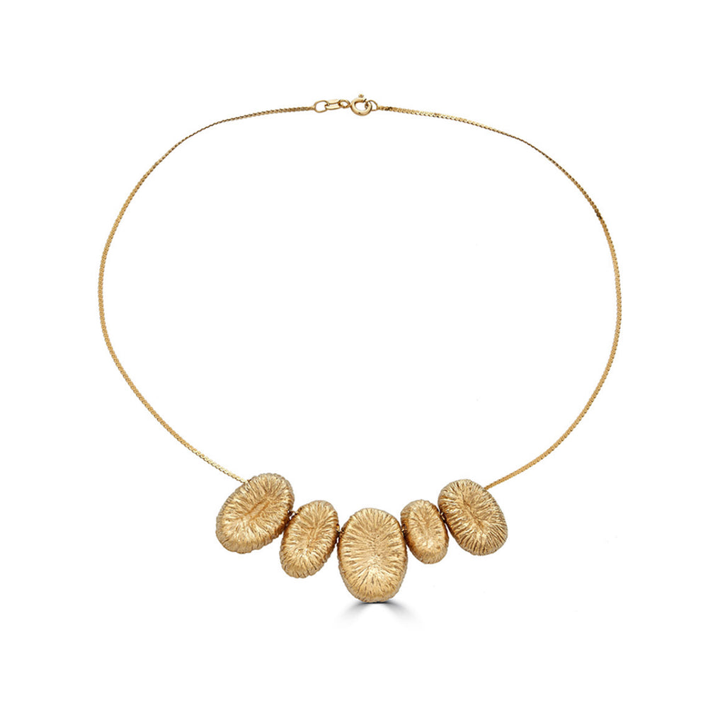 18K Gold-Plated Silver Loose Designer Necklace on IndieFaves