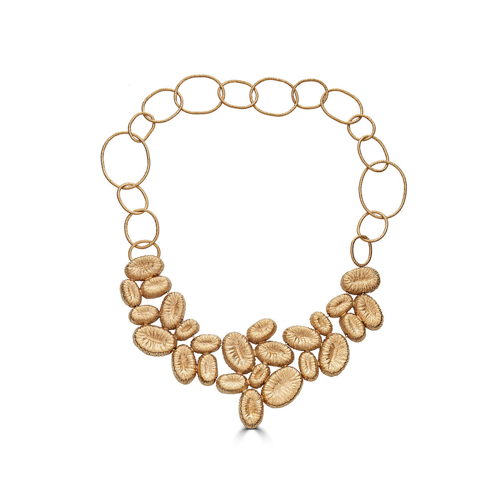 18K Gold-Plated Silver Statement Designer Necklace on IndieFaves