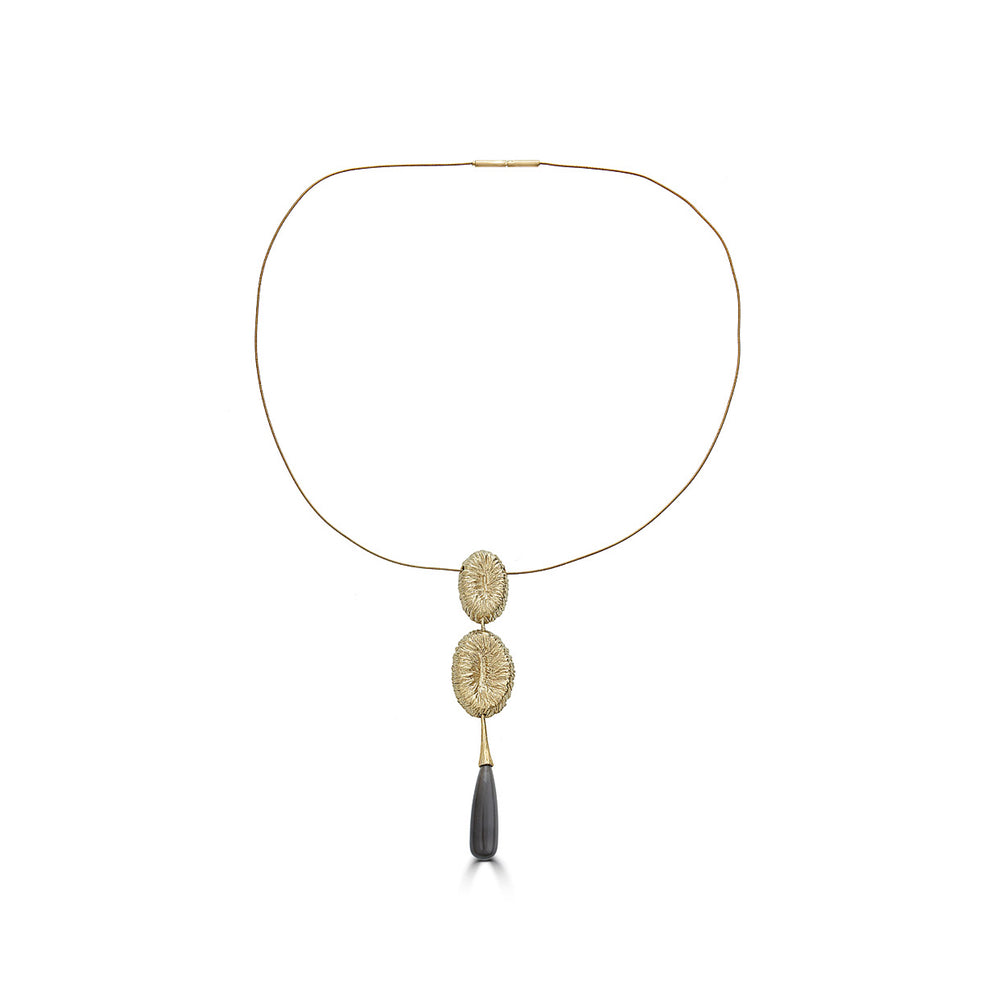 18K Gold-Plated Silver Designer Necklace with Moonstone on IndieFaves