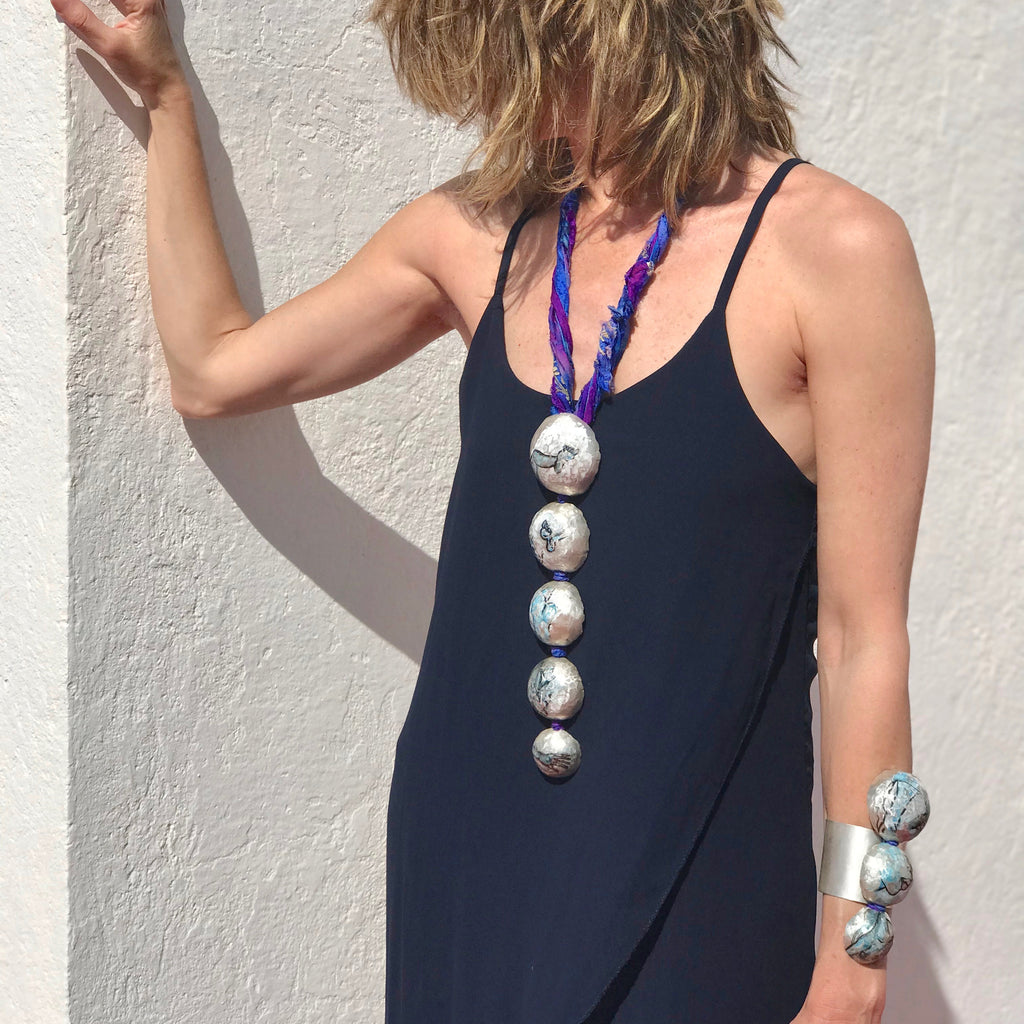Model wearing May Ganan - The Big Dive Designer Necklace on IndieFaves