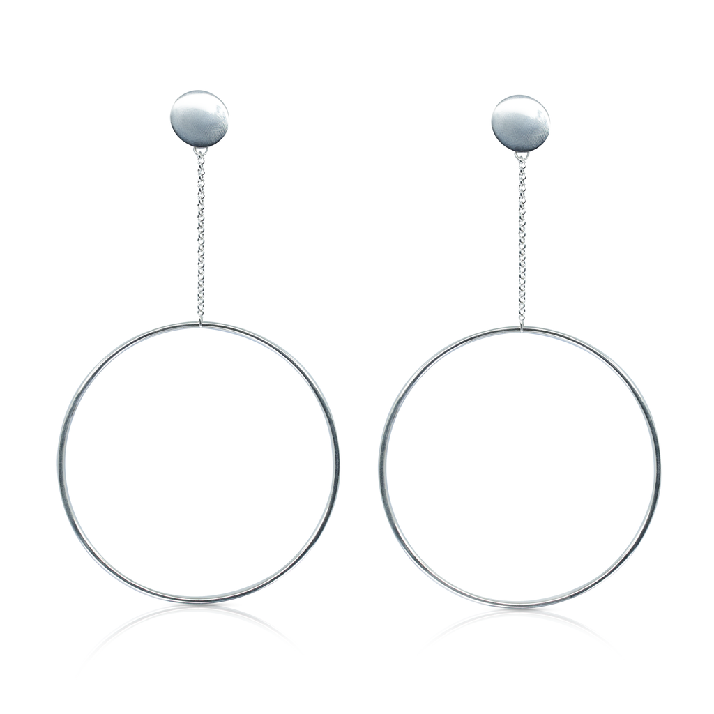 Monom Studio - Sterling Silver Oversized Circle Designer Earrings on IndieFaves