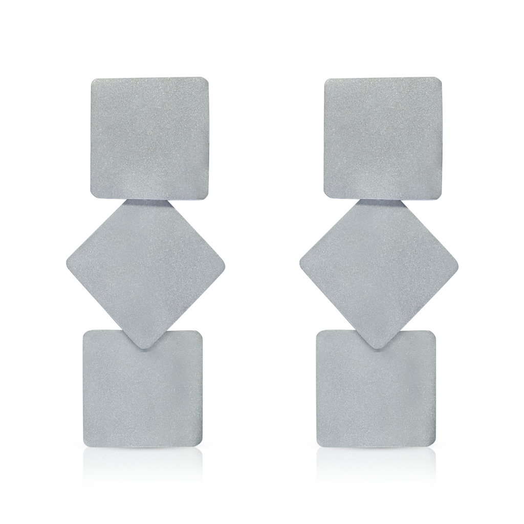 Monom Studio - Sterling Silver Triplattitude Designer Earrings on IndieFaves