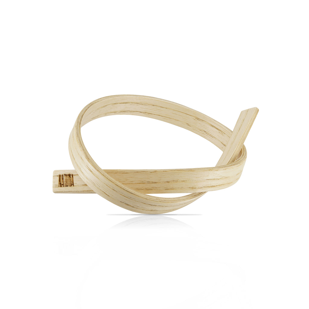 Sustainable AshWood Wooden X Designer Bracelet on IndieFaves
