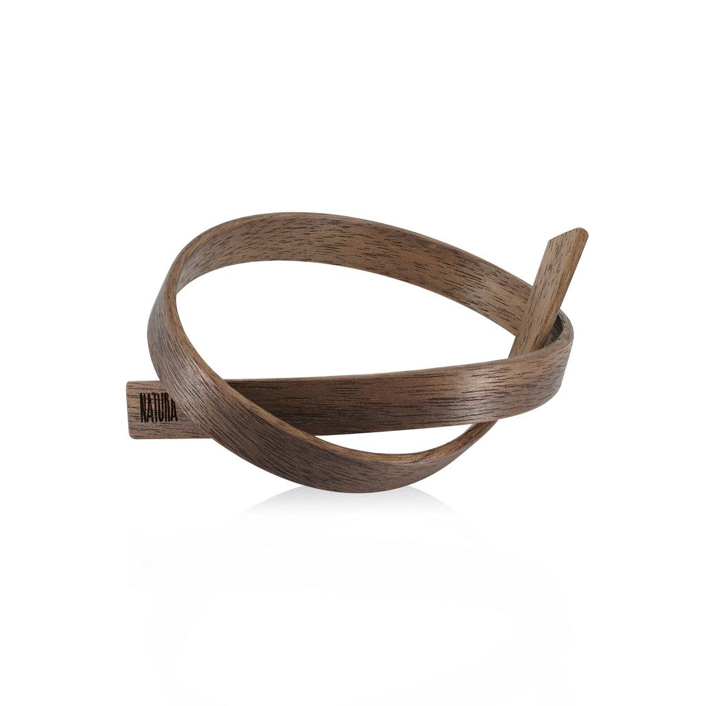 Sustainable Walnut Wooden X Designer Bracelet on IndieFaves