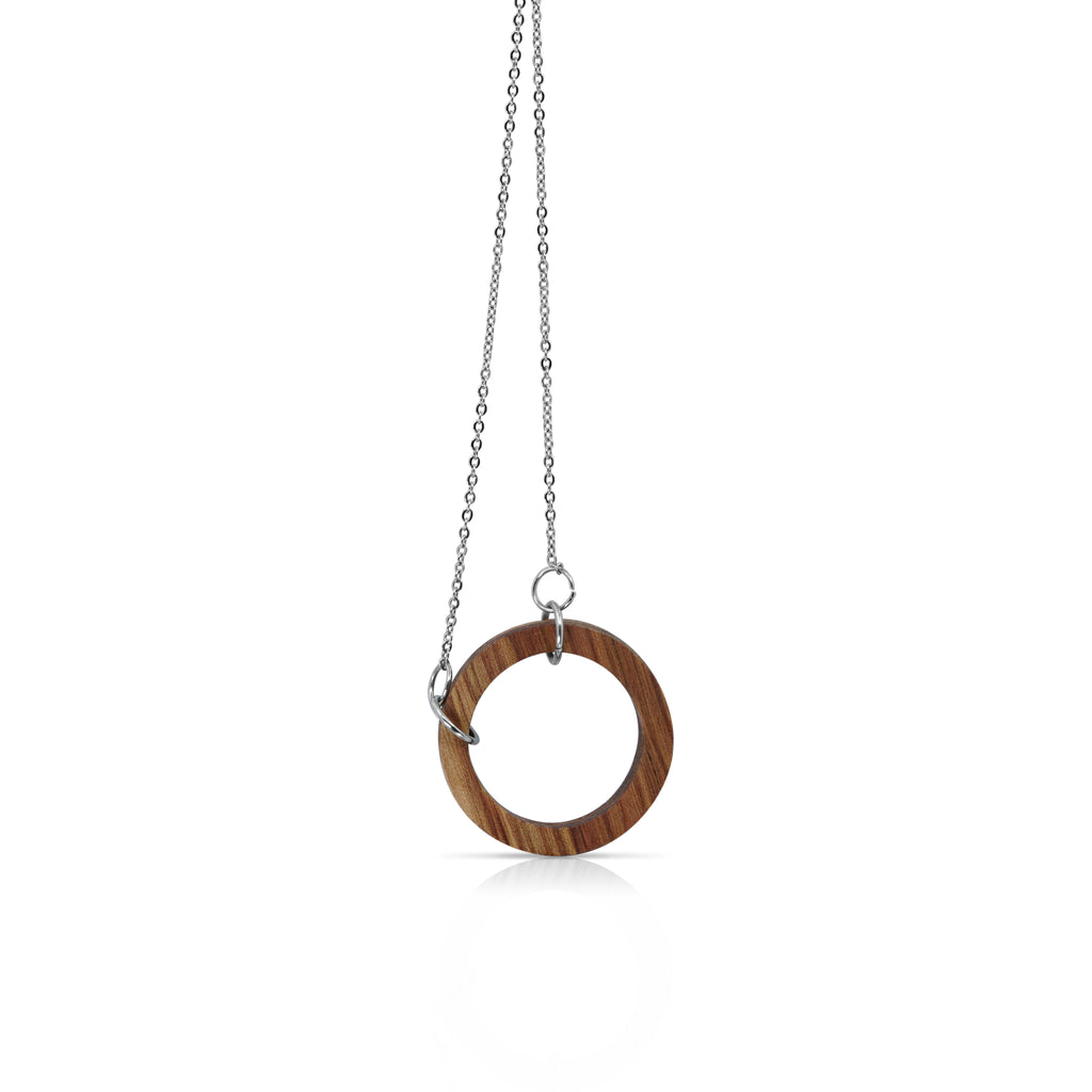 Sustainable BirchWood Wooden Deform Designer Bracelet with Chain on IndieFaves