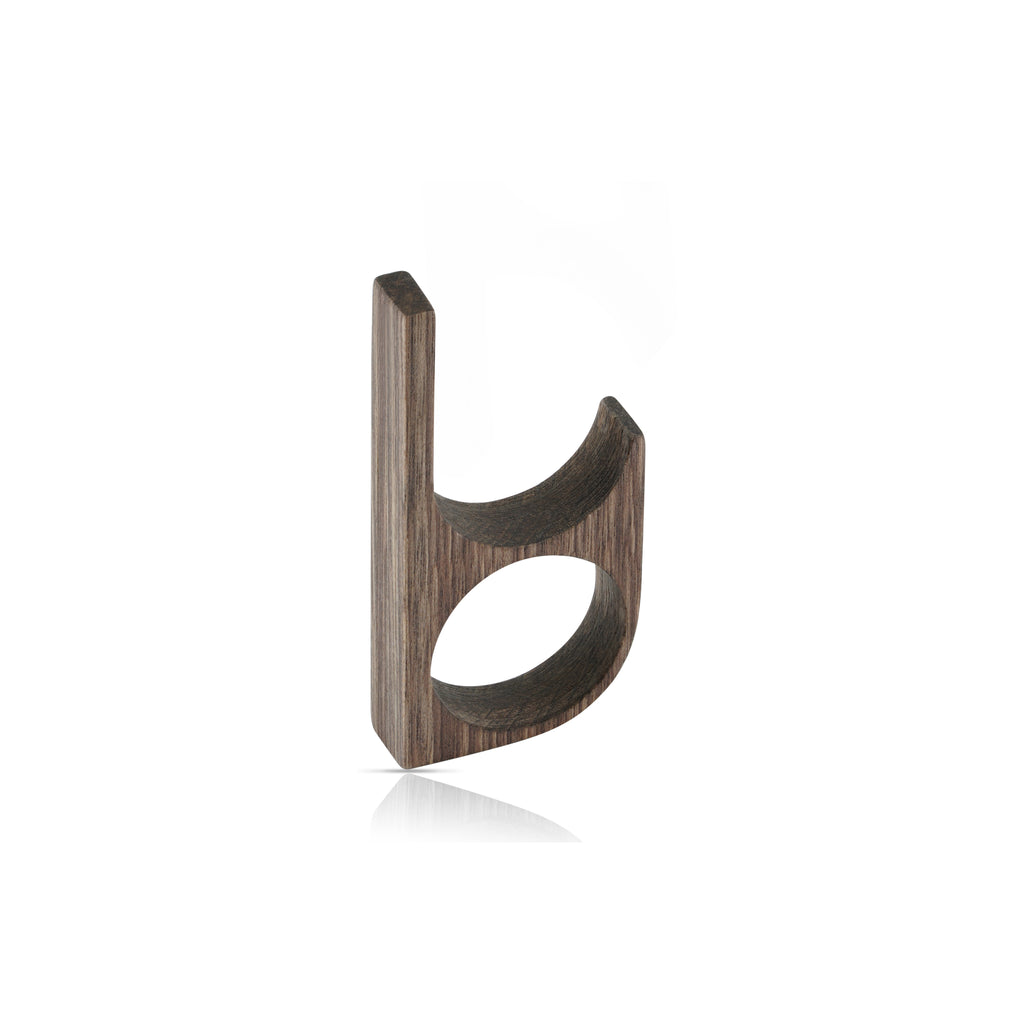 Sustainable BirchWood Brown Wooden Main 1 Designer Ring on IndieFaves