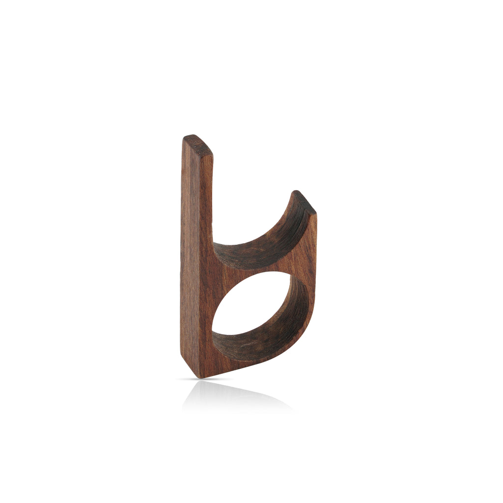 Sustainable Hornbeam Wooden Main 1 Designer Ring on IndieFaves