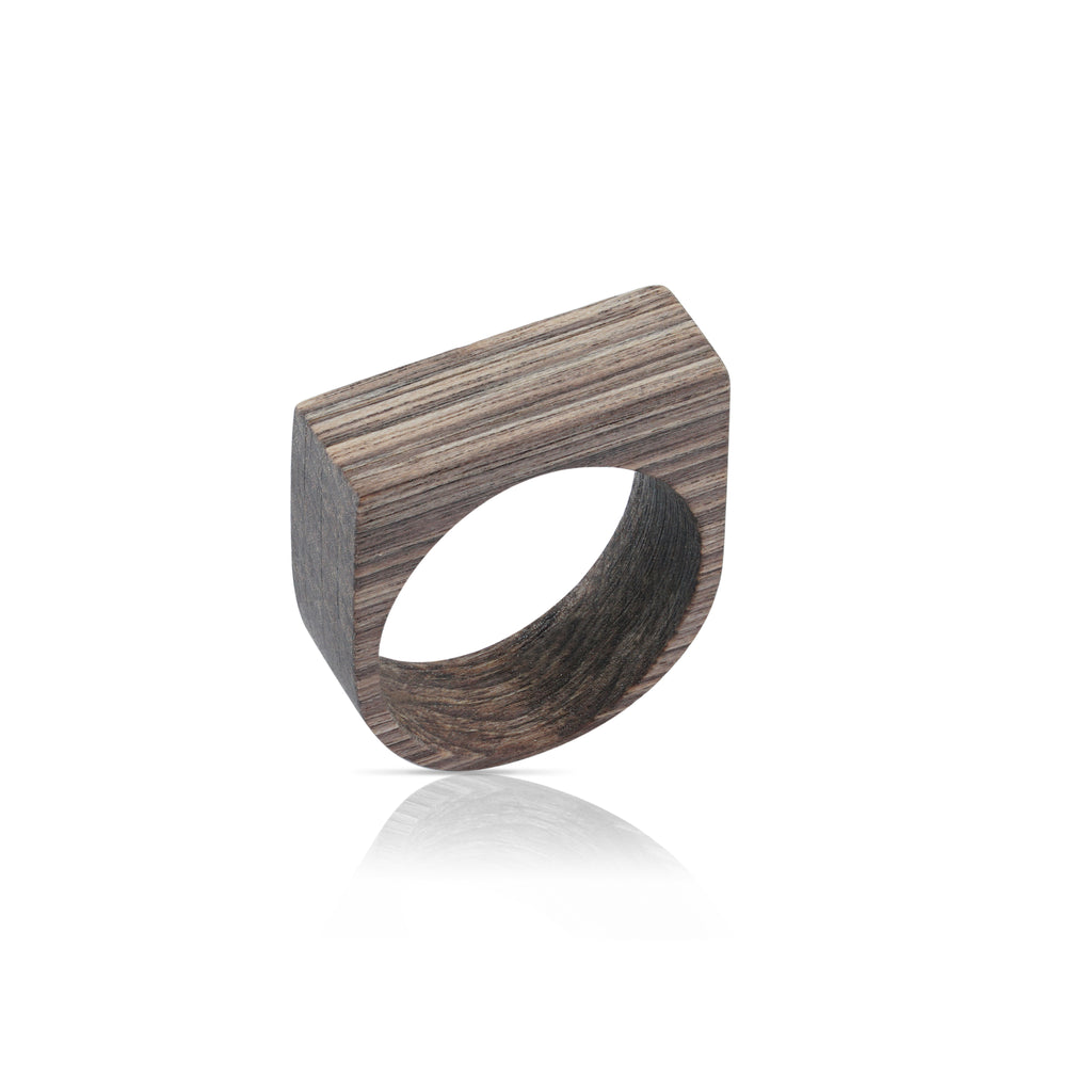 Sustainable BirchWood Brown Wooden Main 2 Designer Ring on IndieFaves