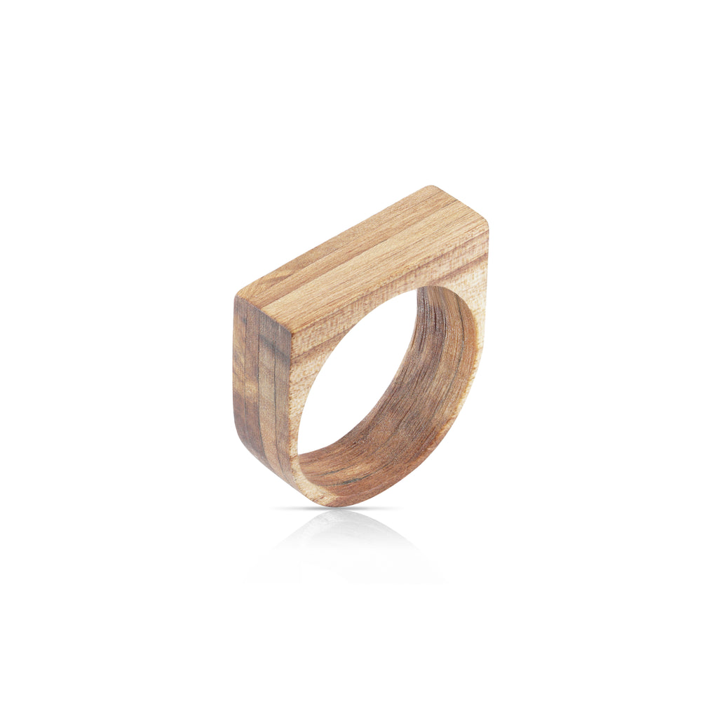 Sustainable Hornbeam Wooden Main 2 Designer Ring on IndieFaves