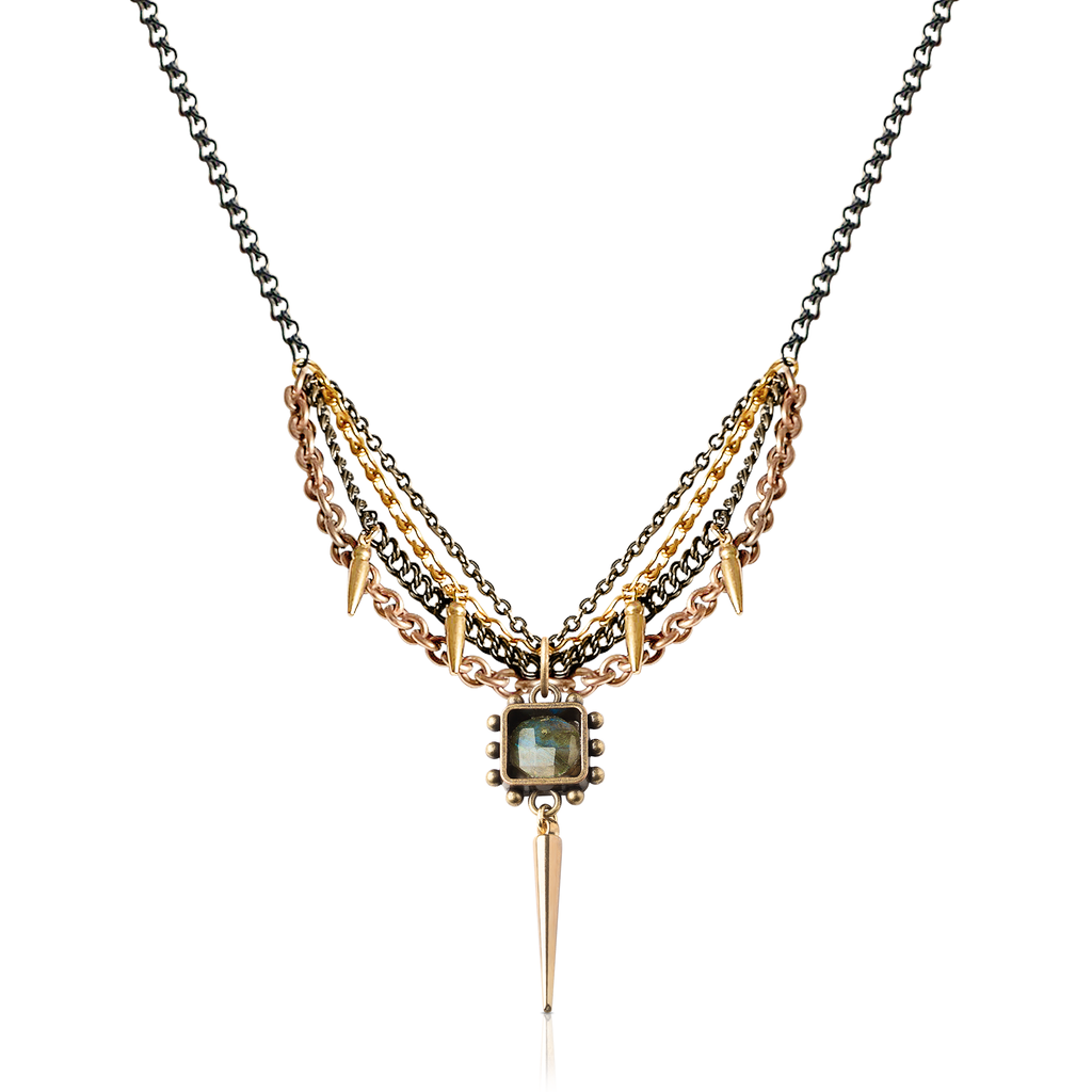Pauletta Brooks - Labradorite Stone Designer Necklace With Charms on IndieFaves