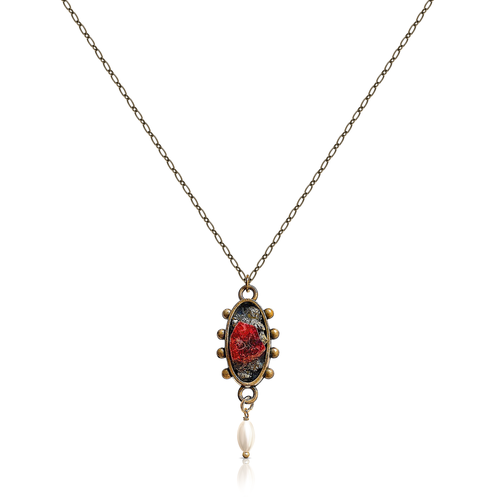 Pauletta Brooks - Tourmaline Pendant With A Pearl Drop