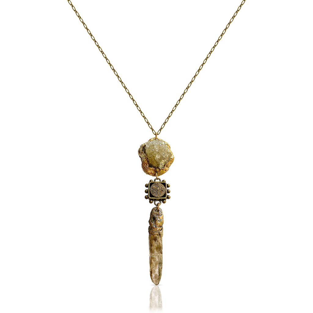 Pauletta Brooks - Triple Tier Quartz Pendant