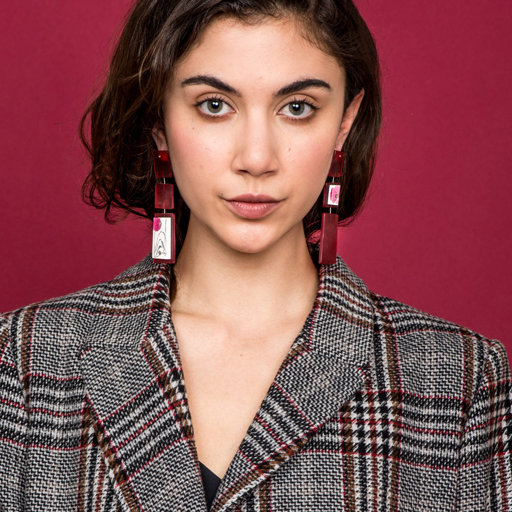 May Ganan - Hand-painted Dangle Designer Earrings on IndieFaves