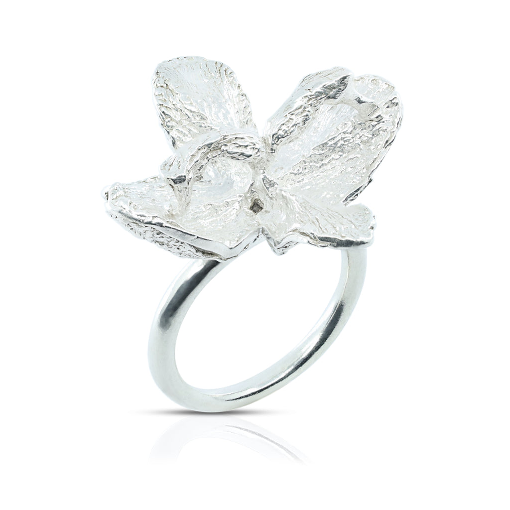 Silver Mustard Flower Ring by Designer Soraya Camacho on IndieFaves