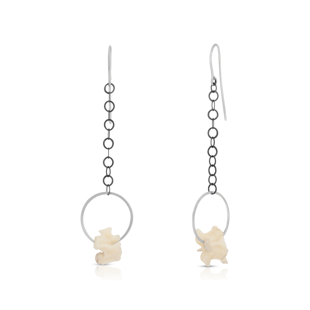 Susan Drews Watkins - Python Vertebrae Designer Earrings on IndieFaves
