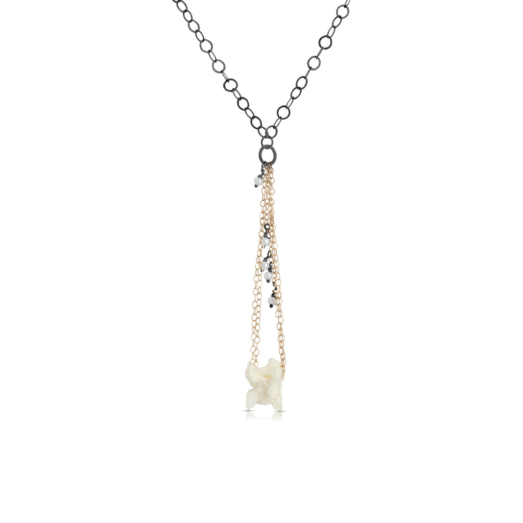 Susan Drews Watkins - Vertebrac Drop Pendant with Pearls