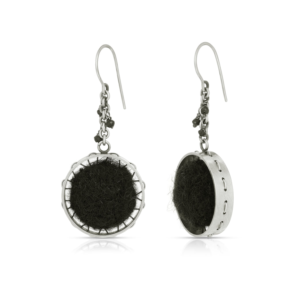 Susan Drews Watkins - Wheel Designer Earrings with Beads on IndieFaves