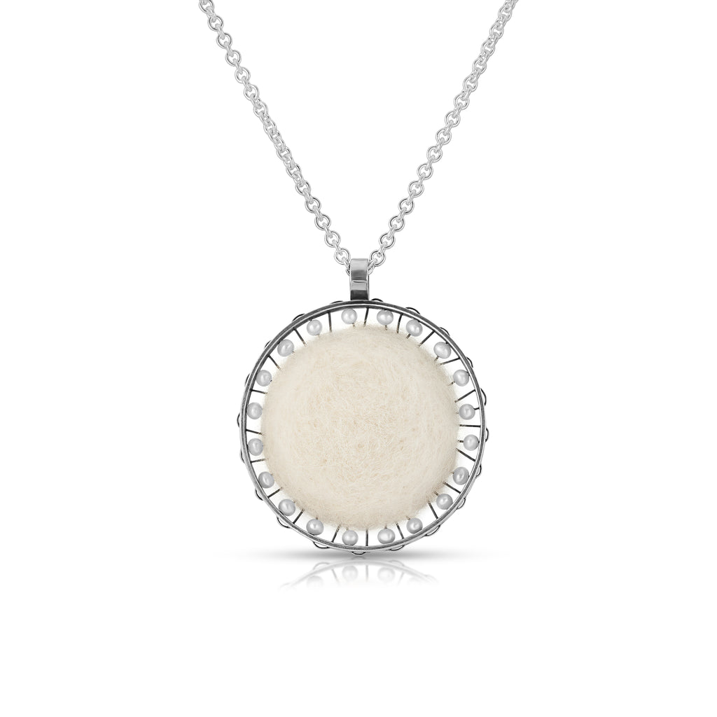 Susan Drews Watkins - Wheel Pendant with Pearls