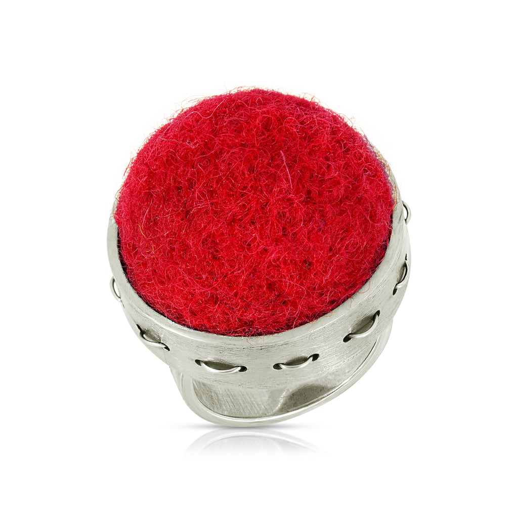 Rent Jewelry - Red Sterling Silver Ring