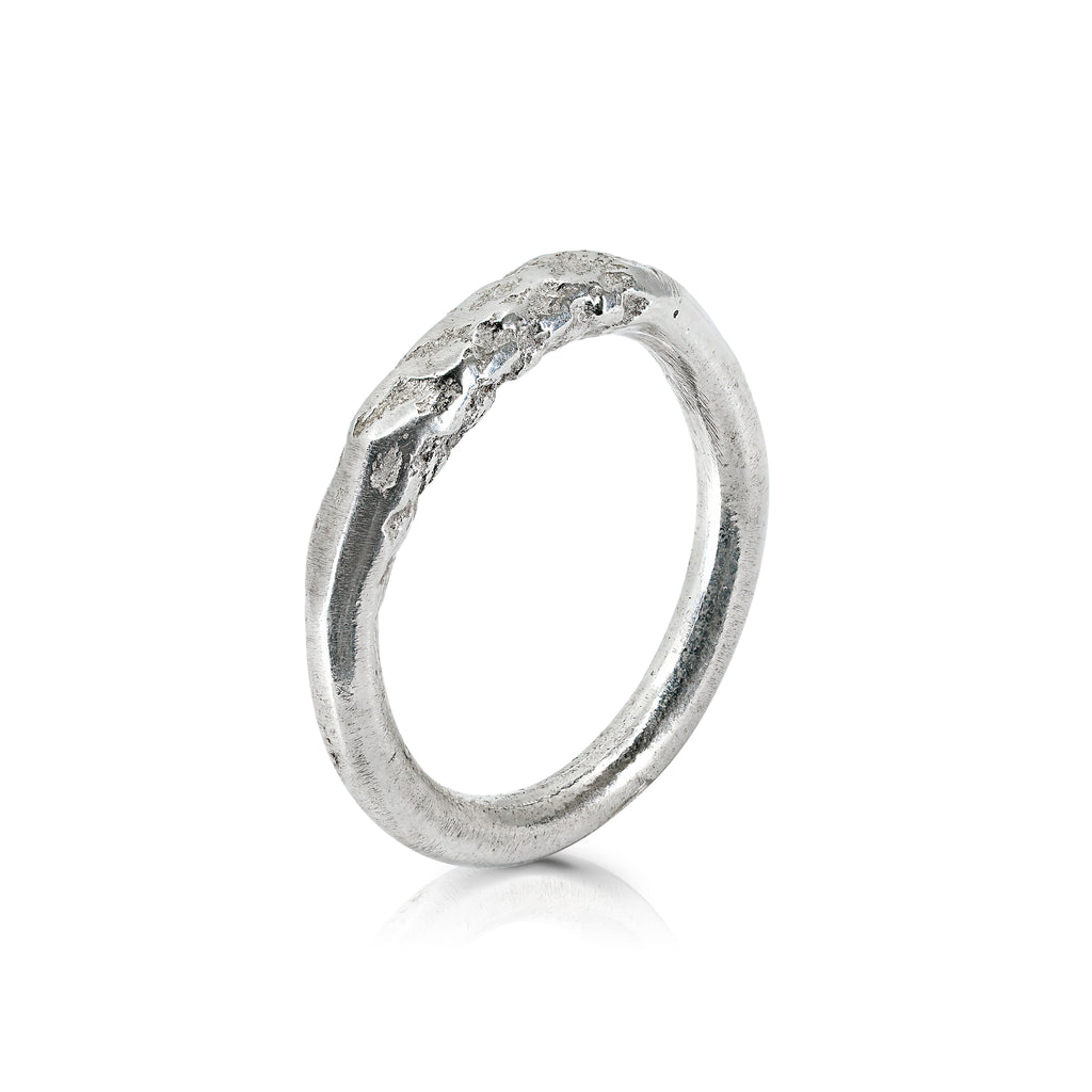 Silver-Plated Circular Rope Designer Ring on IndieFaves