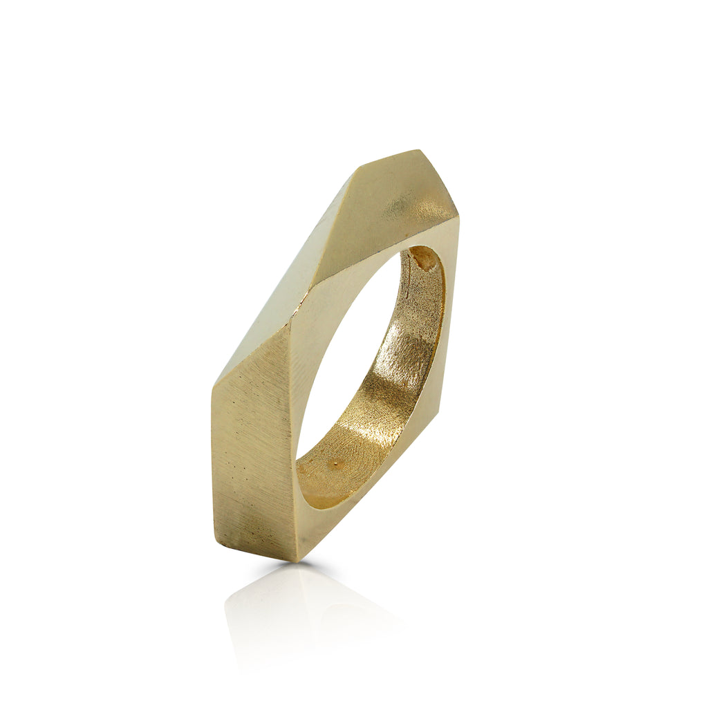 Rent Designer Jewelry - Tami Eshed - Diagonal Ring Gold