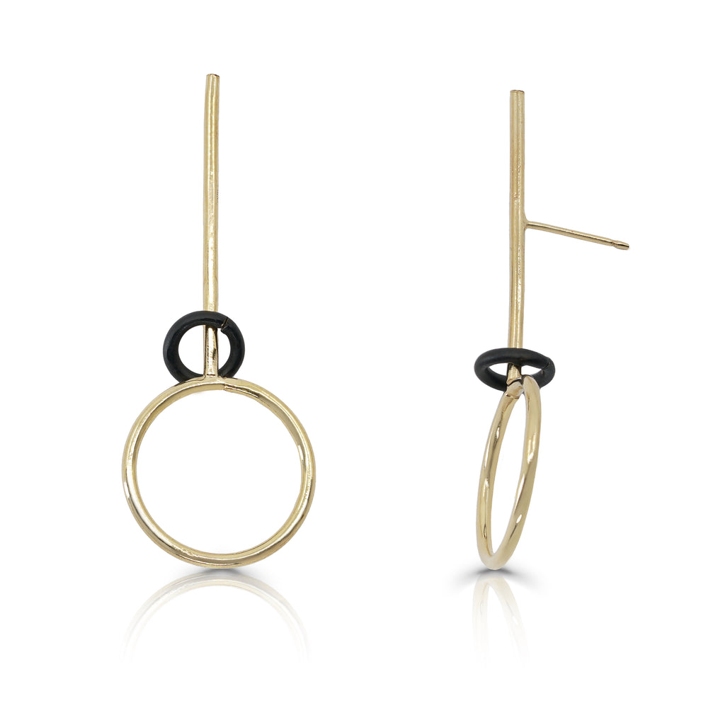 Rent Designer Jewelry - Tami Eshed - Natalie Gold Earrings