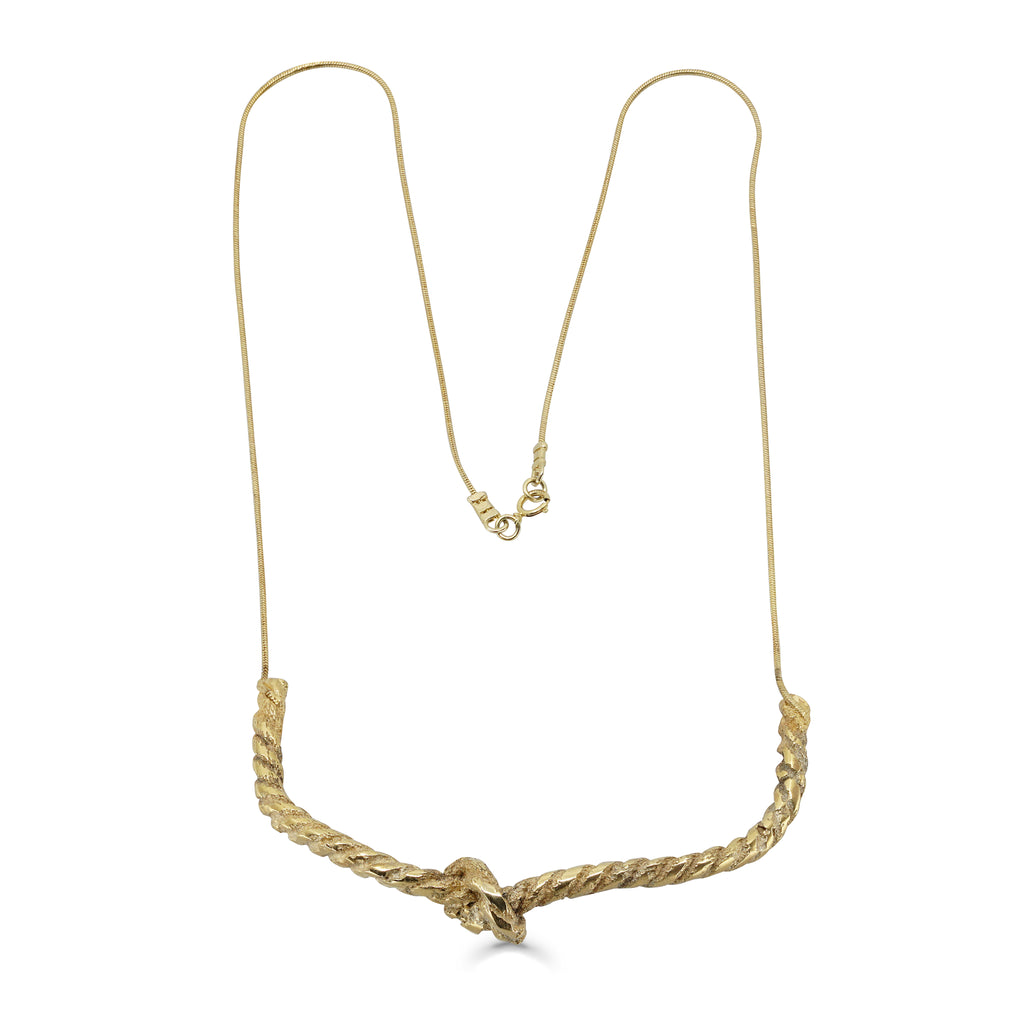 One-Of-A-Kind Gold Rope Designer Necklace on IndieFaves