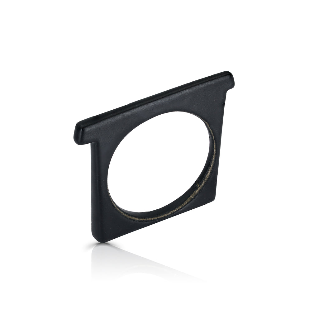 Tami Eshed - Square Designer Ring Black on IndieFaves