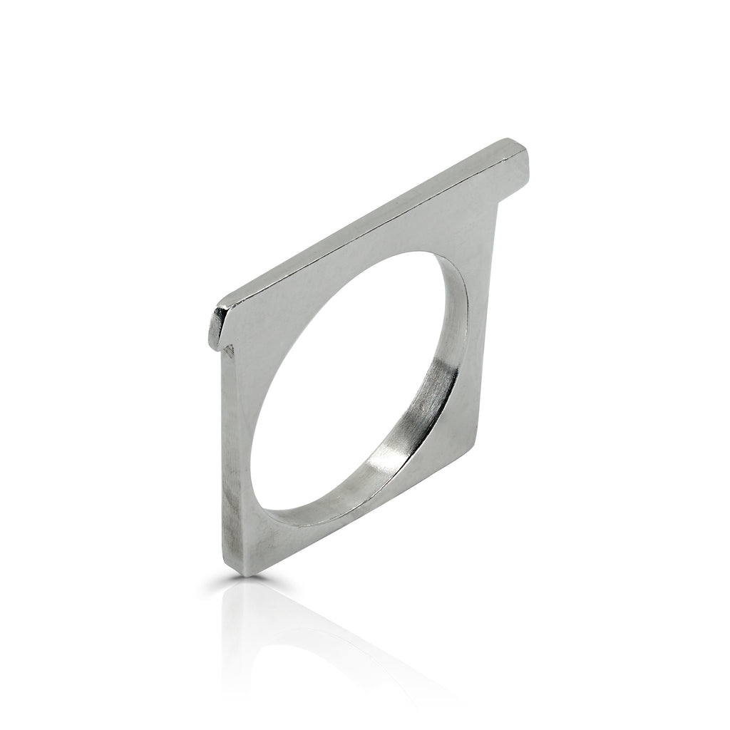 Rent Designer Jewelry - Tami Eshed - Square Ring Silver