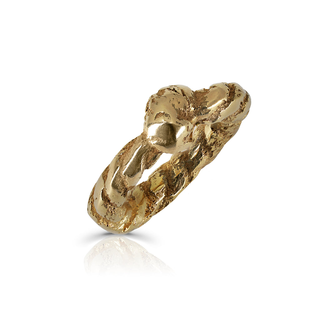 Gold Thick Rope Designer Ring on IndieFaves
