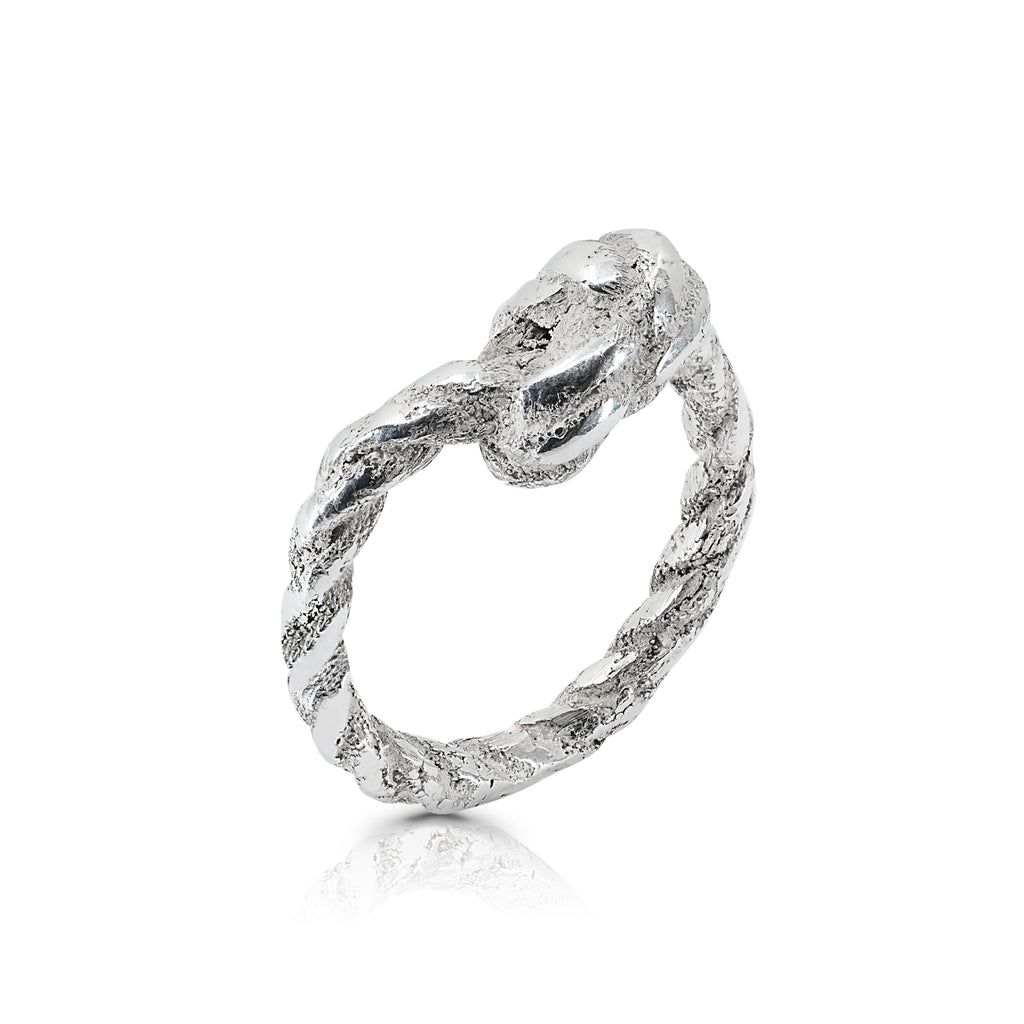 Rent Designer Jewelry - Tami Eshed - Thin Rope Ring Silver
