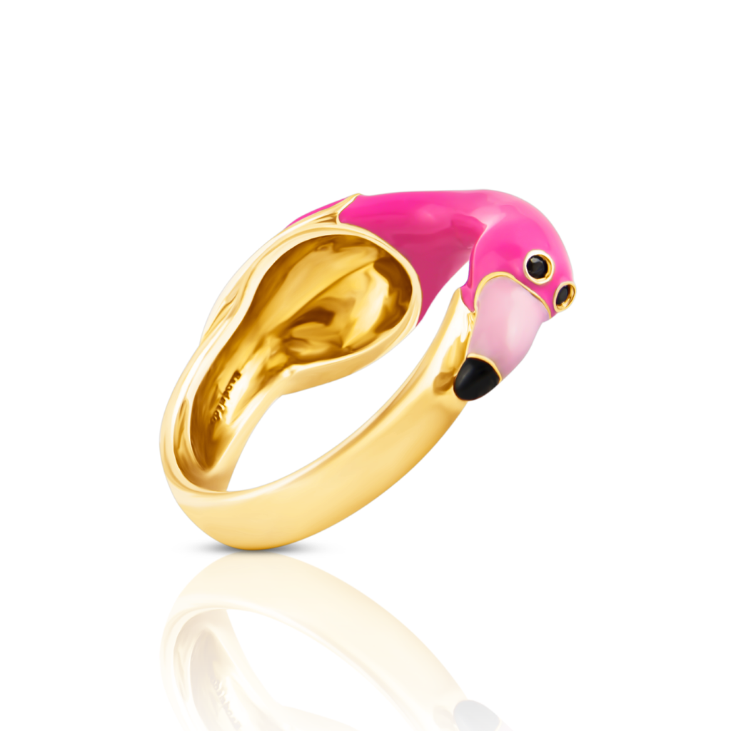 chiara bello flamingo designer ring IndieFaves