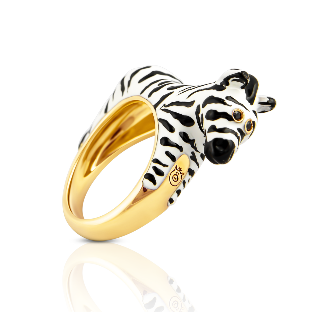 Chiara Bello zebra designer ring on IndieFaves