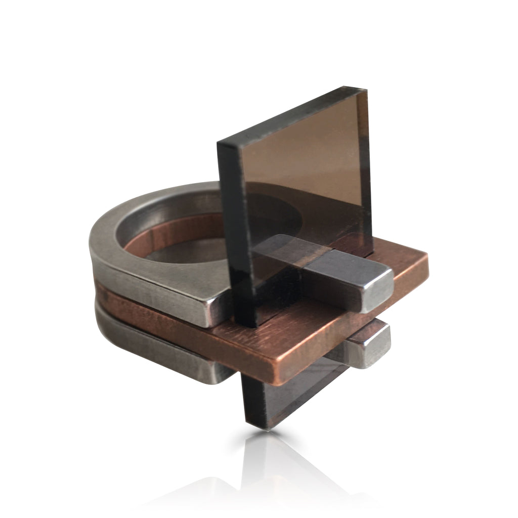 Copper & Plexiglass Detalje Ring Extra Parts