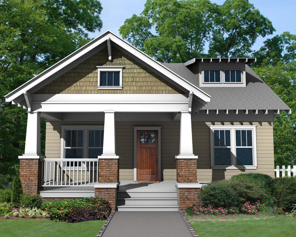 bungalow front porch home plan