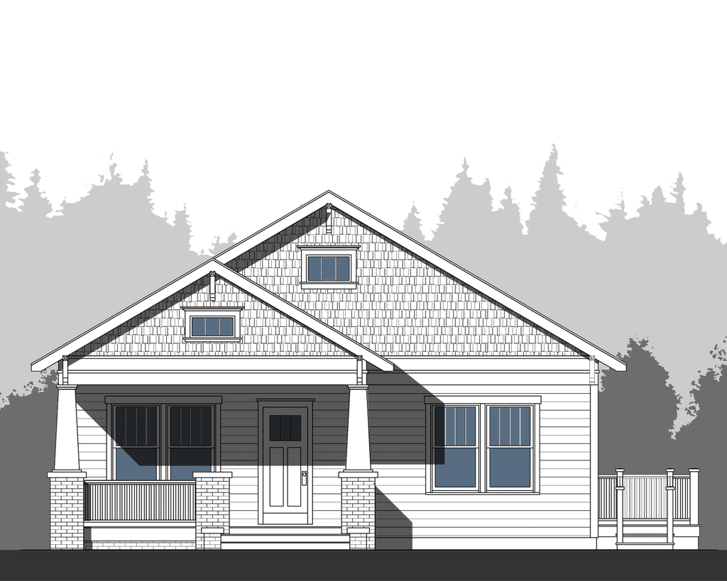 Front Elevation craftsman