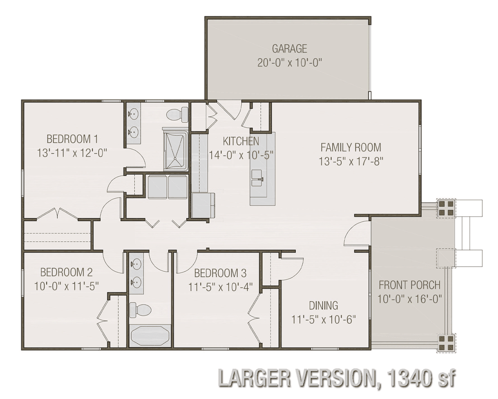 Alternate Floor Plan 1340 SF