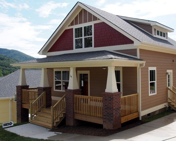 Asheville craftsman home plan