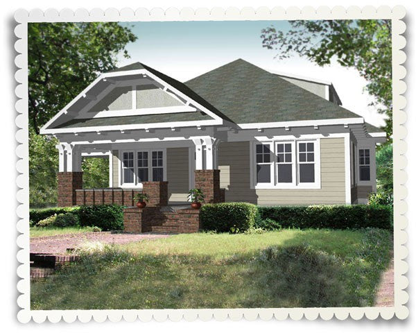 Arts Crafts House Plan Floor Plan Craftsman Home Plan