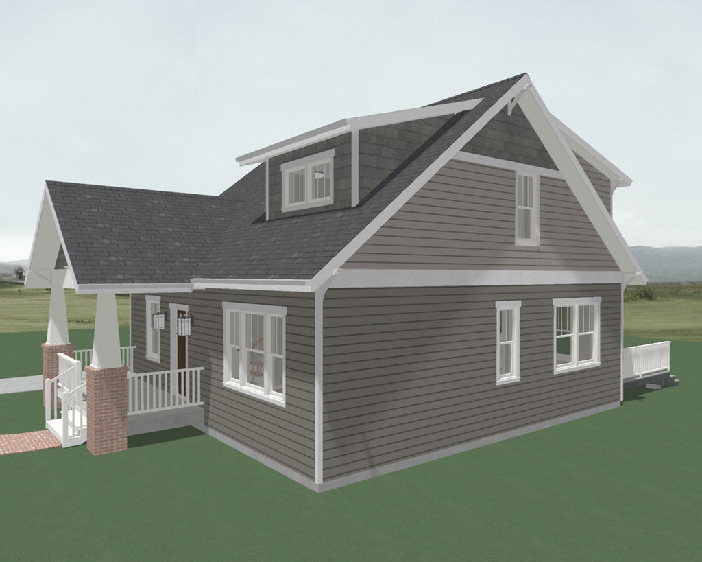 Farmhouse side home plan
