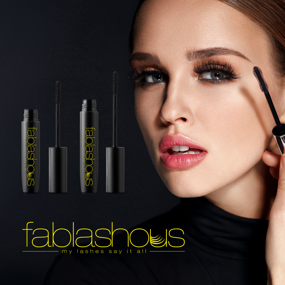 Fablashous 3D Thickening and Lengthening Black Natural Green Tea Fibre Lash Mascara by  Fablashous