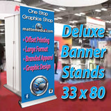 "Retractable Banner Stand 33""x 80"""