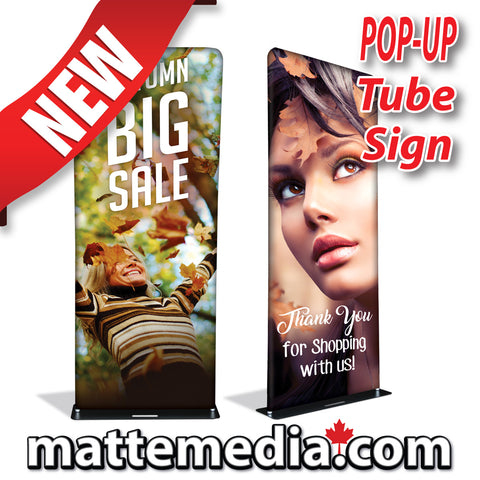 Pop-Up Tube Sign